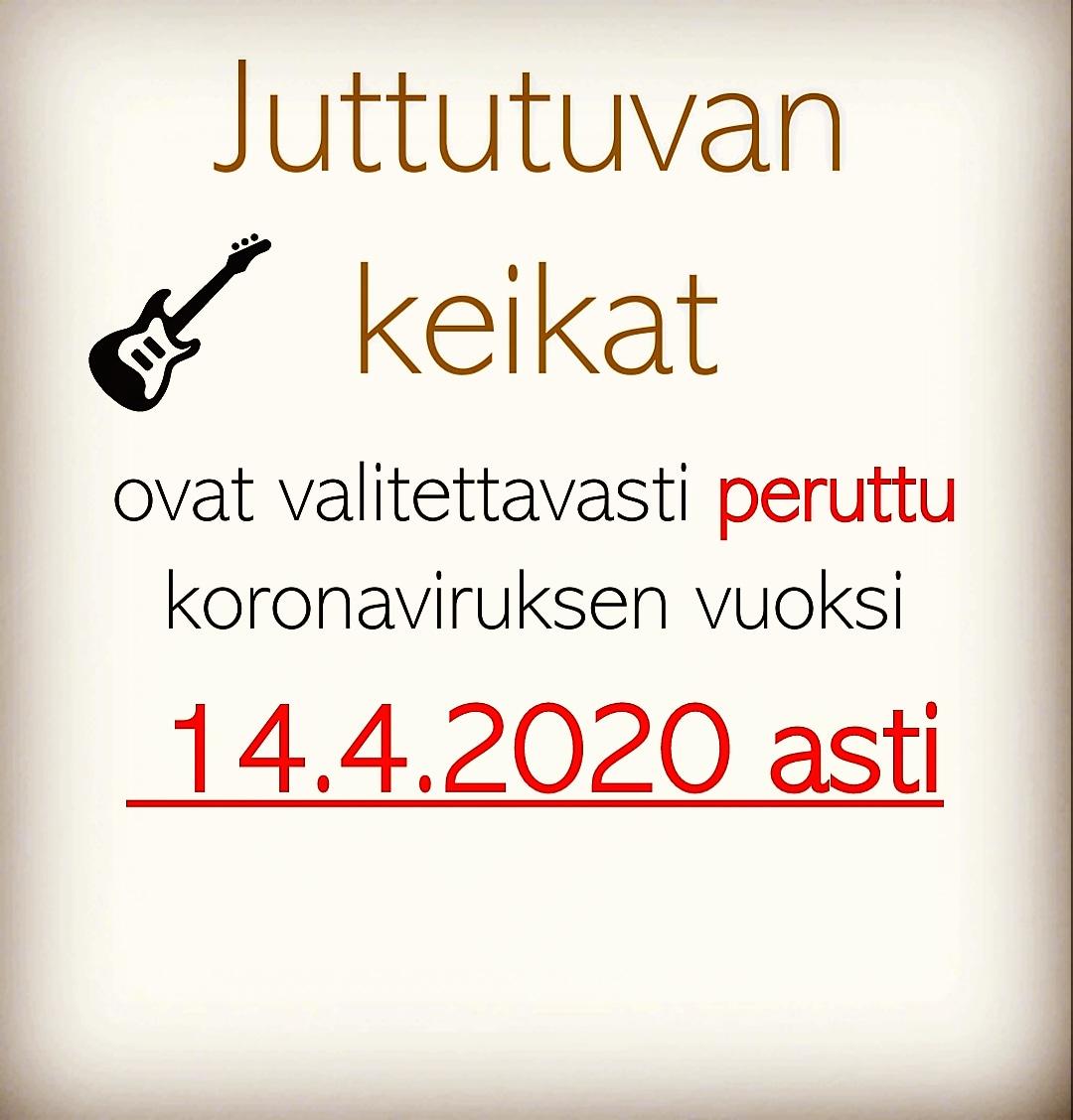 📌Juttutuvan musiikki-illat tauolla 31.5. asti📌