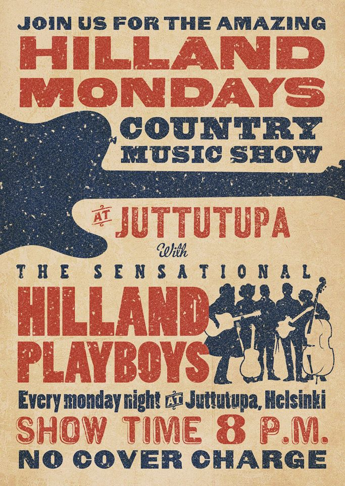 Ma 6.1 Hilland Mondays- klubi Klo 20.00